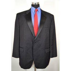 Calvin Klein 50R Tuxedo Jacket Black Wool